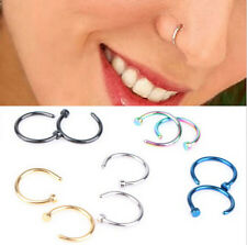 2pcs Stainless Steel Nose Open Hoop Ring Earring Body Piercing Studs Jewelry HS8