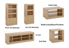 Moda Living Room Furniture - Storage Units Tables TV Stand - Oak