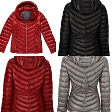 1 Calvin Klein Winter jacket Hooded Down Puffer Coat Pearlized Red New 2018