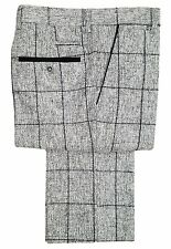 Mens Marc Darcy Vintage Check Suit Trousers - Kristian Grey