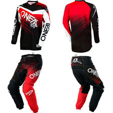 ONeal Element Red Black motocross MX dirt bike - Jersey Pants Kids / Youth Combo