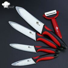 "Kitchen Ceramic Knife set 3"" 4"" 5"" 6"" inch peeler White Blade Fruit Vege Knives"