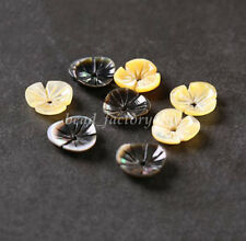 5Pcs Carved Shell Flower Bead Caps Resin Spacer Bead DIY Jewelry Making 1.5x10mm