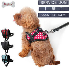 Service Dog Harness Soft Vest for Small Medium Dogs Pet Puppy Collar W/ Patches