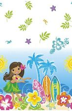 Hula Beach Hawaiian Luau Plastic Party Tablecover Tablecloth 1-5pk
