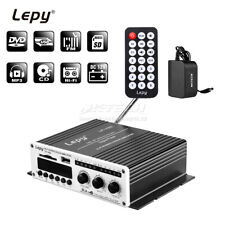 Lepy LP-V9S Hi-Fi Stereo Power Digital Amplifier 2x 20W USB/SD DVD CD FM MP3 Car