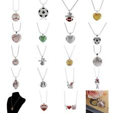 Mixed Styles Football Baseball Rugby Sport Lover Ball Pendant Chain Necklace