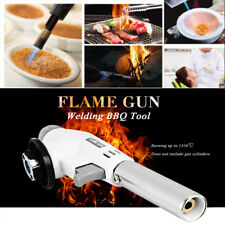 Portable Camping BBQ Welding Fire Soldering Lighter Flame Gas Brass Torch Butane