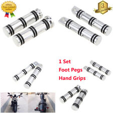 Foot Pegs Footrest Pedal Handlebar Hand Grips for Harley Dyna Fat Boy Sportster