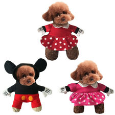 Pet Dog Cat Cosplay Minnie Mickey Mouse Fancy Dress Clothes Halloween Costume