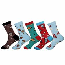 5 Pairs Gift Package High Quality 80% Cotton Retro Mens Socks - Size 7-10
