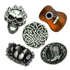 Western Country Metal Boots Skull Guitar Belt Buckle Cowboy Cowgirl Cool Skull
