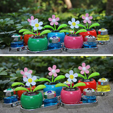 Solar Powered Perfume Flower Swinging Animated Dancer Toy Car Decoration New