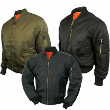 Mens MA1 Army Pilot Biker Bomber Fly Military Security Doorman Harrington Jacket