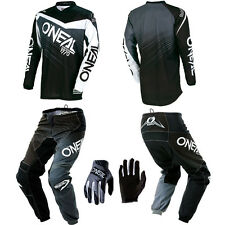 O'Neal Element Black motocross MX gear - Jersey Pants Gloves Kids / Youth Combo