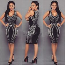 Women Sexy Bodycon Bandage Evening Cocktail Party Sleeveless Short Pencil Dress