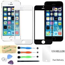 Replacement Broken Front Screen Glass Lens 7x Repair Tools Kit For iPhone 4 4S