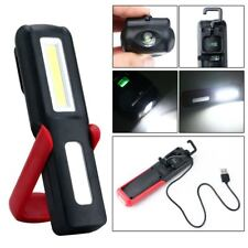 USB Rechargeable 3W COB LED Work Light Lamp Magnetic Flashlight Torch w/Hook