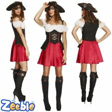 Womens Sexy Pirate Wench Fancy Dress Costume Adult Ladies Outfit