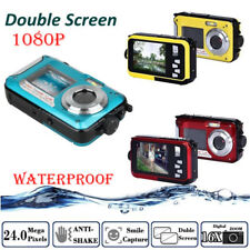 2.7INCH Waterproof Digital 24MP Camera Dual LCD Camcorder FHD 1080p Recorder SD