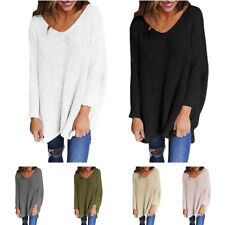 2017 Women Loose Knitted Pullover Jumper Sweater V Neck Long Sleeve Knitwear Top