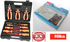 HILKA VDE TOOL KIT ELECTRICIANS INSULATED PLIERS SCREWDRIVER 11PC ELECTRICAL SET