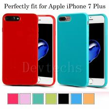 Soft Silicone Rubber Gel Shockproof Jelly Case Cover Skin for Apple iPhone 7Plus