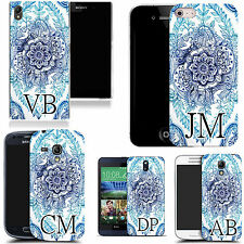 PERSONALISED INITIALS CASE FOR MANY MOBILES - floral bliss MONOGRAM