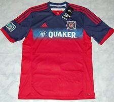 Adidas Men's MLS Chicago Fire Home Soccer Jersey, G82125, Red/Navy, US Size M
