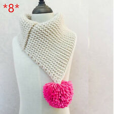 Knitted Scarf Girl Baby Scarf Kids Scarf Boys Warm Soft Neck Scarf Cotton Winter