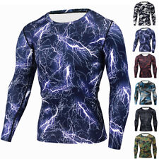 Men Compression Armour Apparel Skin Tights Base Layer Tops Sports T-Shirts