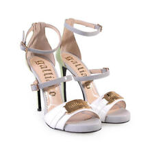 500$ Rare John Galliano leather high heels pumps sandals New in Box US7,5 US8,5
