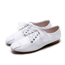 Womens Retro Oxfords Lace Up Low Heels Leather Comfy Flats Shoes Loafers