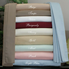 Scala Brand 1000TC Egyptian Cotton 4Pc Sheet Set  US Size All Solid Color