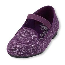 The Children's Place Toddler Girls Sparkle Purple Loafer Shoes SZ 7,8