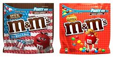 M&M's Red White &Blue Party Size Bag Patriotic Candy Chocolate or Peanut Butter