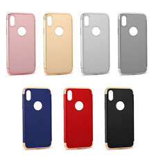 For IPhone  Hybrid 3 in 1 Shockproof Electroplate Hard Bumper Hybrid Case Cover