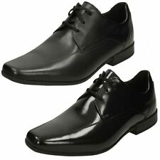 MENS CLARKS LEATHER SQUARE TOE FORMAL LACE UP SMART OFFICE SHOES GLEMENT OVER