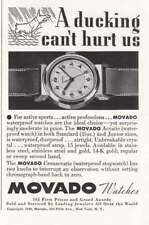 1939 Movado Watches: A Ducking Can't Hurt Us (20406) Print Ad