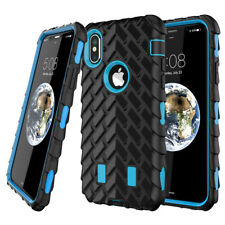 Shockproof Hybrid Gel Armor Rubber Tire Phone Case Cover For iPhone X 8 Plus