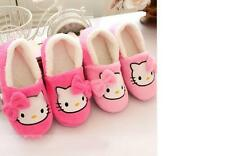 2017 Winter Women Slippers Cartoon Hello Kitty Indoor Home Shoes Warm Adult Pink