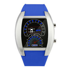 Fashion classic watch Aviation Turbo Dial Flash LED Watch Gift Mens Lady Sports