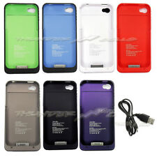1900mAh Portable Backup Power External Charger Case Cover For iPhone 4 4G 4S LOT