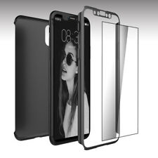 360° Full Ultra Thin Slim Hard Case Cover + Screen Protector For Apple iPhone X