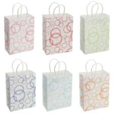 12x Circle Stripe Paper Gift Bags Carry Shopping Party Merchandise Boutique Bags