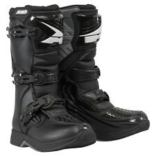 AXO 2017 Drone Youth Boys Motocross Offroad Boots - Black - 11116-55