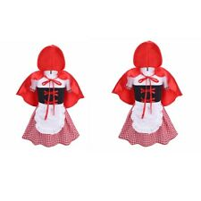 Little Red Riding Hood Costume Baby Girl Cosplay Dress Cloak Party Halloween