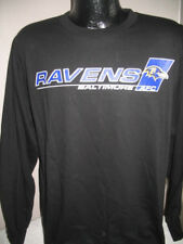 NFL Baltimore Ravens Football Long Sleeve Black T Shirt Mens Sizes Majestic New