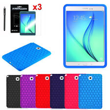 For Samsung Galaxy Tab A 8.0 Tablet Silicone Case Cover Skin + Screen Protector