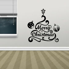 Merry Christmas Trees Wall Stickers Decals Home Decor Art Removable Vinyl Mural